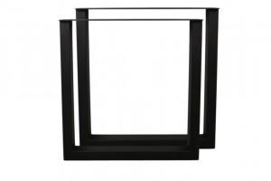 Tischbeine 2er Set schwarz Metall Industriedesign, Metall Tischbeine für Esstisch Industrie Metall, Breite 70 cm
