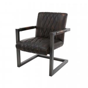 Sessel Metall Gestell, Sessel braun Industriedesign