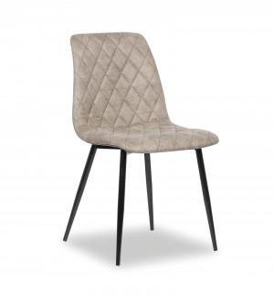 Stuhl grau, Esszimmerstuhl grau, Stuhl gepolstert grau