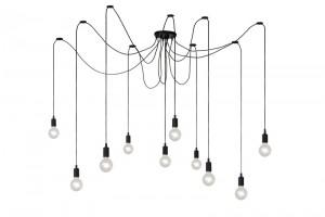 Multikabel-Leuchte schwarz, Pendelleuchte schwarz, Deckenleuchte schwarz