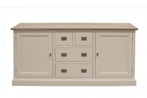 Sideboard weiß Landhausstil, Anrichte Landhaus weiß, Breite 180 cm