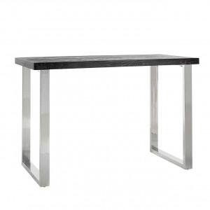 Bartisch braun-schwarz, Tisch braun-schwarz Eiche furniert, Breite 160 cm