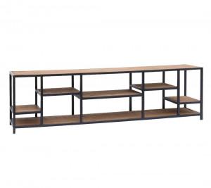 TV Regal braun, TV Regal Industriedesign Metall, Lowbaord Metall Industrie, Fernseheschrank Industrie, Breite 180 cm