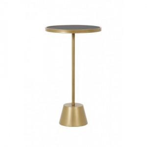 Beistelltisch Gold, Beistelltisch Metall, Durchmesser 35 cm