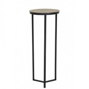Dekosäule schwarz Metall, Säule Metall Bronze schwarz, Beistelltisch rund Metall,  Durchmesser 40 cm