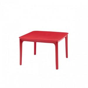 Gartentisch rot, Kunststoff Beitstelltisch rot, Gartentisch Kunststoff rot, Maße 60x60 cm