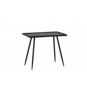 Beistelltisch schwarz Metall, rechteckiger  Beistelltisch Metall schwarz, Beistelltisch Metall,  Maße 60x35 cm