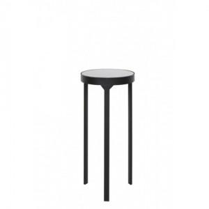 Dekosäule schwarz Metall, runde Säule Metall schwarz, Beistelltisch rund Metall,  Durchmesser 35 cm