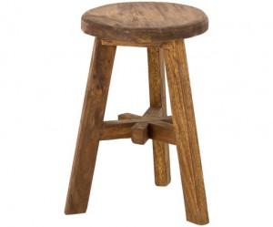Hocker Holz braun, Holz Hocker, Durchmesser 35 cm