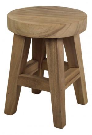 Hocker Holz,  Holz Hocker, Durchmesser 36 cm