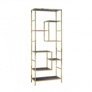 Regal Gold, Bücherregal braun-schwarz Eiche furniert, Breite 80 cm