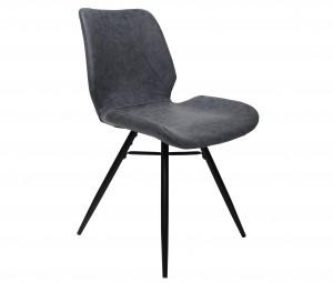 Design Stuhl in vintage blau schwarz Industriestil
