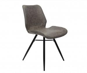Design Stuhl in taupe schwarz Industriestil