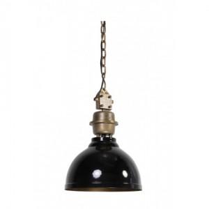 Pendelleuchte schwarz-bronze im Industriedesign, Hängeleuchte schwarz, Durchmesser 35 cm