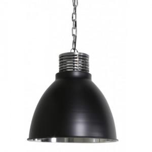 Hängeleuchte Farbe schwarz-silber , Pendelleuchte schwarz, Durchmesser 32 cm
