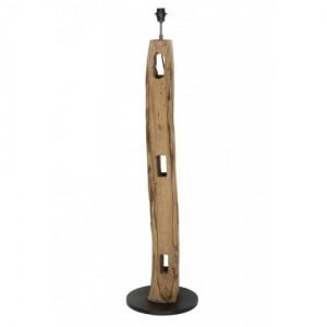 Lampenfuß braun antik für eine Stehlampe, Stehleuchte aus Holz, Höhe 130 cm