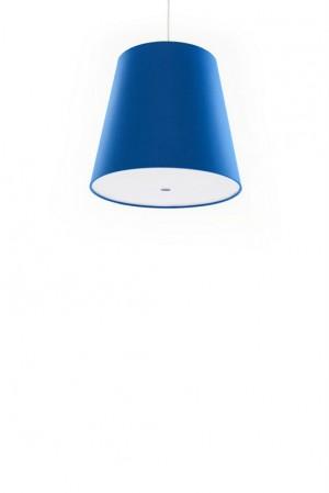 Pendelleuchte blau, moderne Pendellampe in sechs verschiedenen Farben, Ø 33 cm