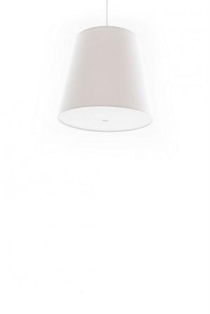 Pendelleuchte, Lampenschirm weiß, moderne Pendellampe in sechs verschiedenen Farben, Ø 33 cm