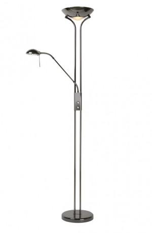 Stehlampe /  Stehleuchte schwarz chrom, Höhe 180cm