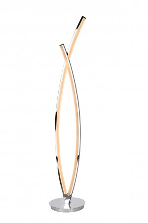 Stehleuchte / Stehlampe chrom, Höhe 125 cm