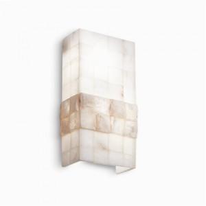 Wandleuchte Alabaster weiß/ natur