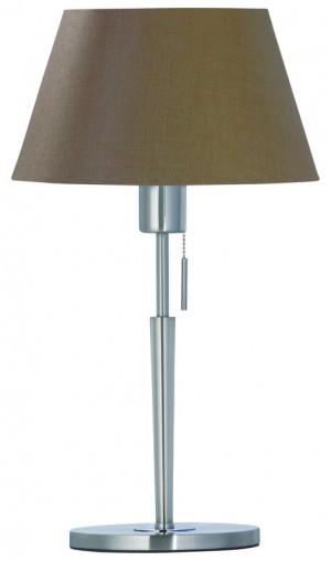Tischlampe silber - braun modern Tischleuchte silber - braun