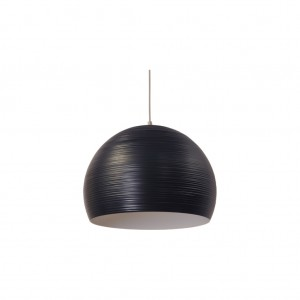 Moderne Hängeleuchte Lampenschirm aus Aluminium, Hängelampe Farbe schwarz, Durchmesser 50 cm