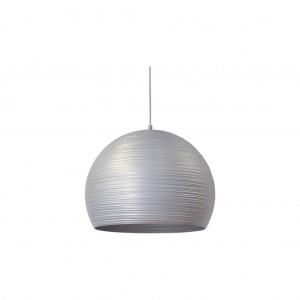 Moderne Hängeleuchte Lampenschirm aus Aluminium, Hängelampe Farbe silber, Durchmesser 50 cm