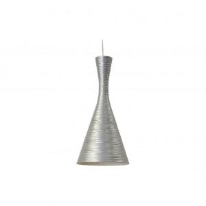 Moderne Hängeleuchte Lampenschirm aus Aluminium, Hängelampe Farbe silber, Durchmesser 20 cm