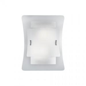 Wandleuchte Metall chrom Glas weiß transparent