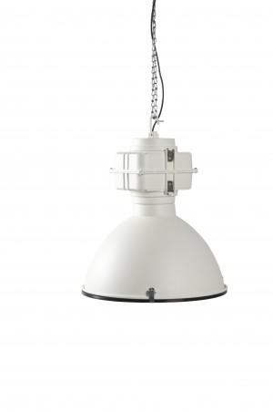 Pendelleuchte Fabrikart, Industriedesign Lampe, Farbe weiß
