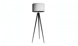 Moderne Stehleuchte mit Lampenschirm, Farbe: schwarz-grau