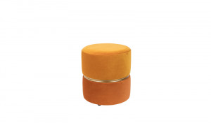 Hocker gelb/orange, soft