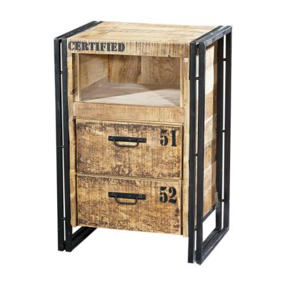 beistelltisch schubladen kommode aus massivholz 80 cm hoch. Black Bedroom Furniture Sets. Home Design Ideas