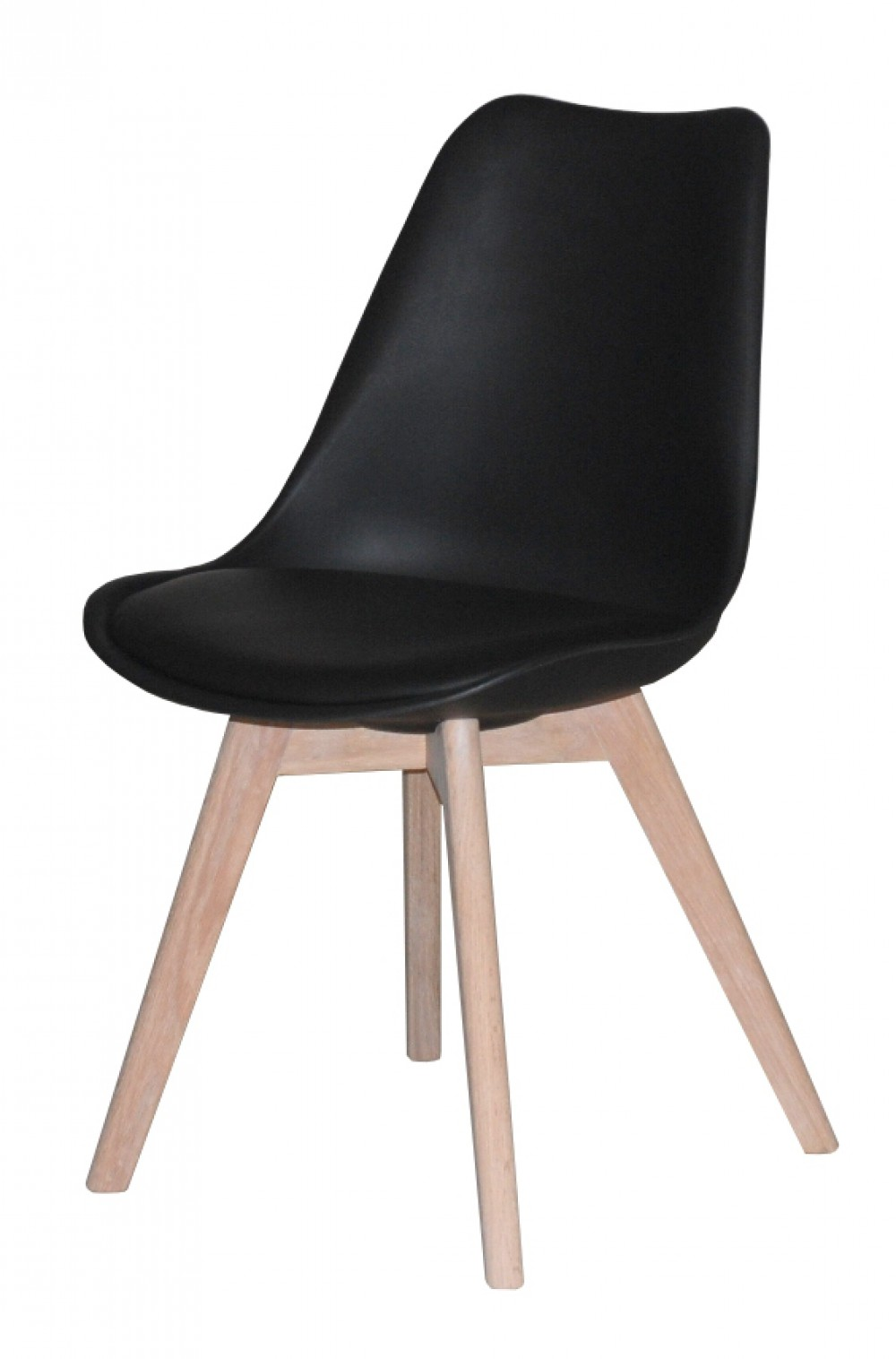 stuhl schwarz gepolstert stuhl kunststoff holz landhaus stil m bel. Black Bedroom Furniture Sets. Home Design Ideas