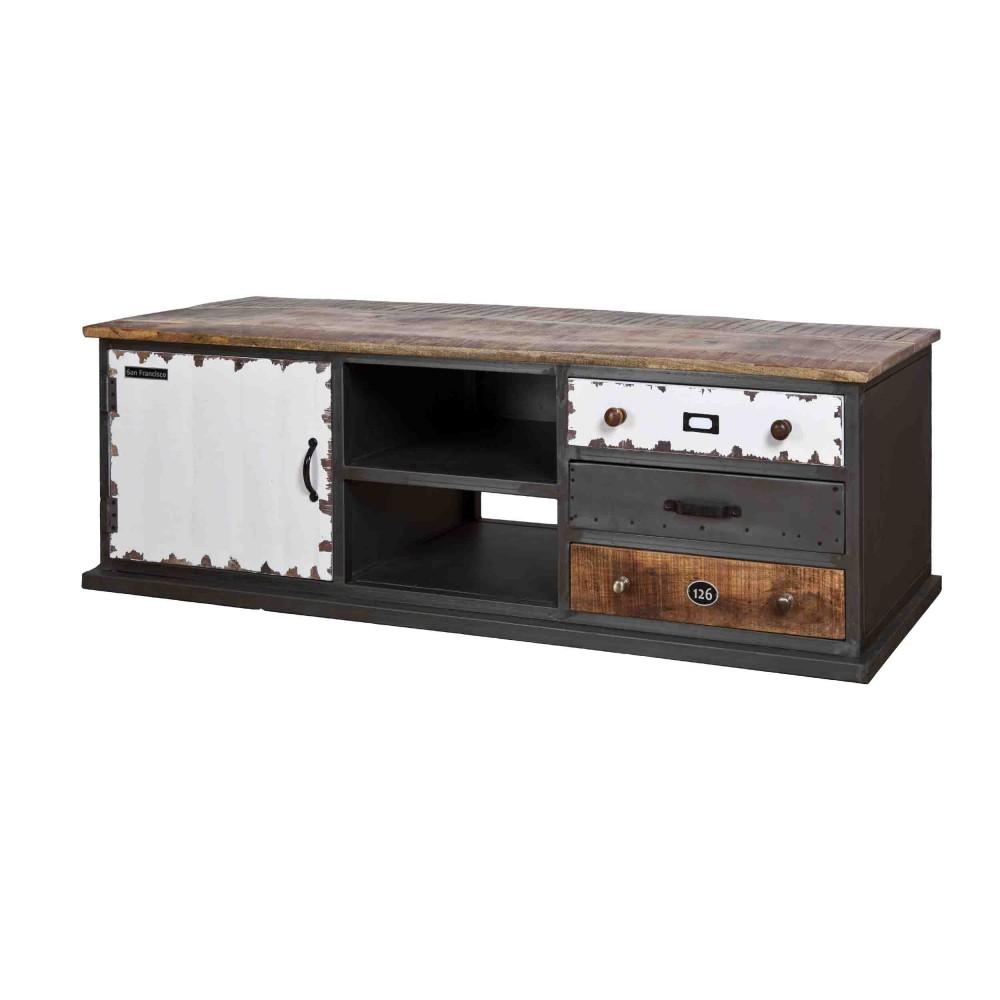 Lowboard Fernsehschrank Im Industriedesign Tv Schrank Aus Metall