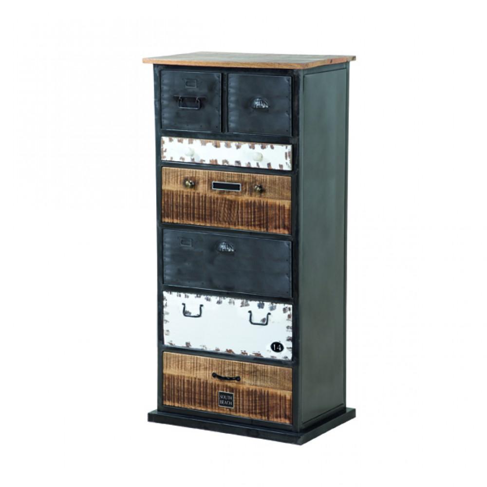 Kommode Metall Holz Im Industriedesign Schrank Metall Breite 60 Cm