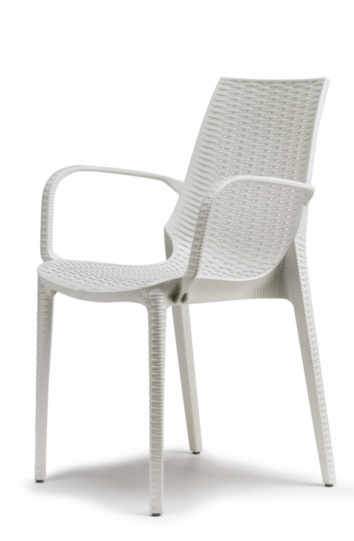 Design Gartenmobel Stuhl Kunststoff Leinen Weiss Glasfaser
