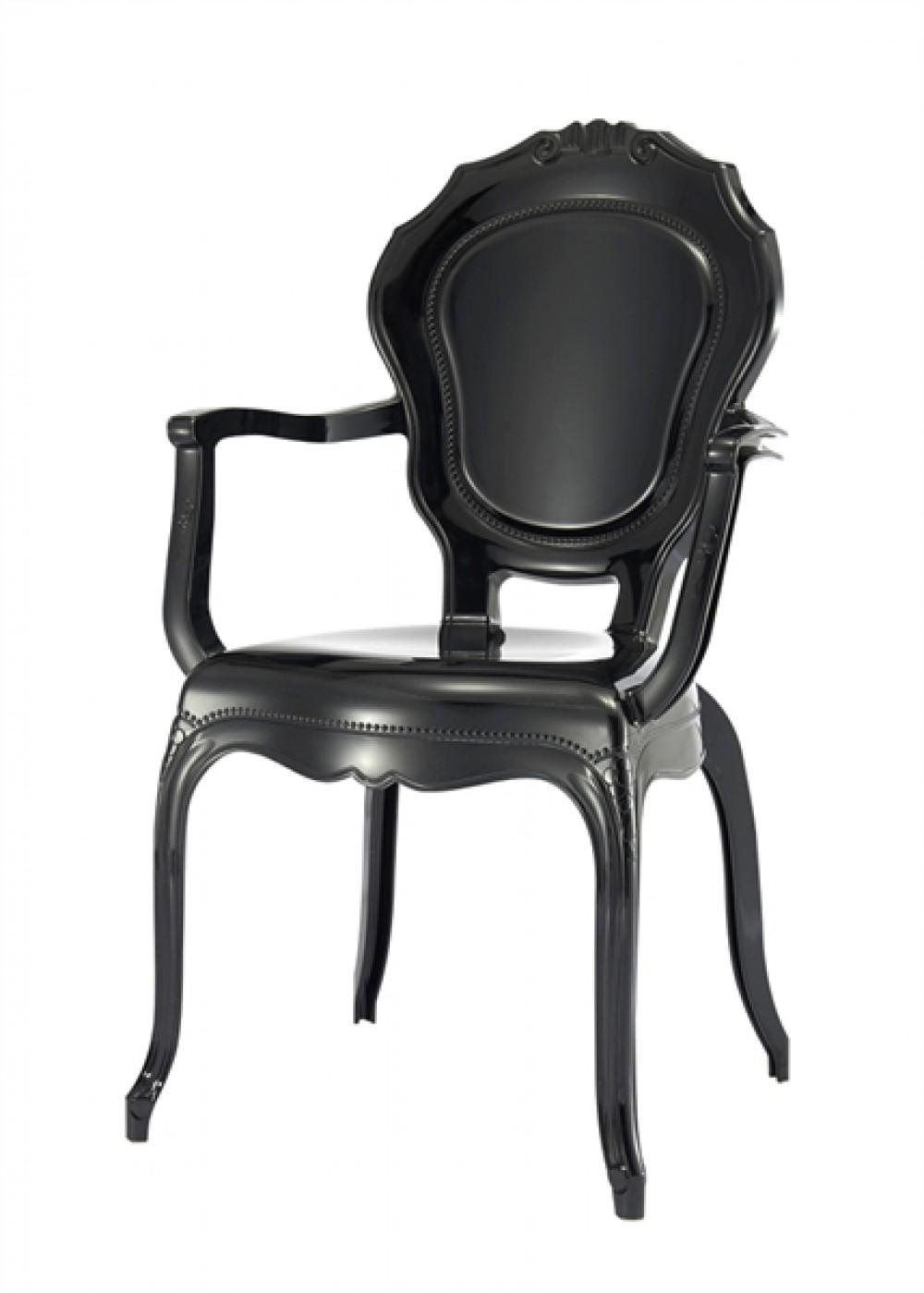 stuhl barock schwarz aus kunststoff st hle landhaus stil m bel. Black Bedroom Furniture Sets. Home Design Ideas