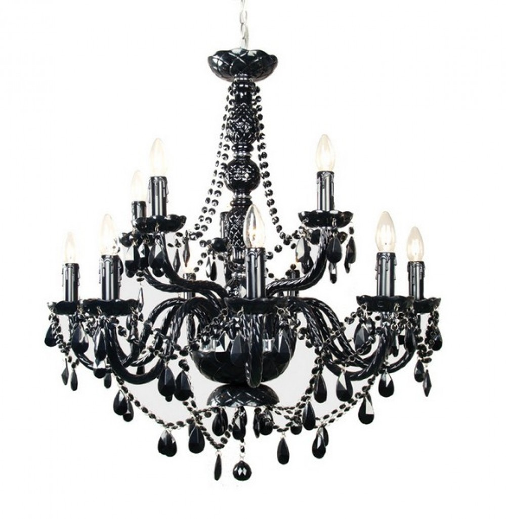 klassischer kronleuchter schwarz 82 cm durchmesser. Black Bedroom Furniture Sets. Home Design Ideas