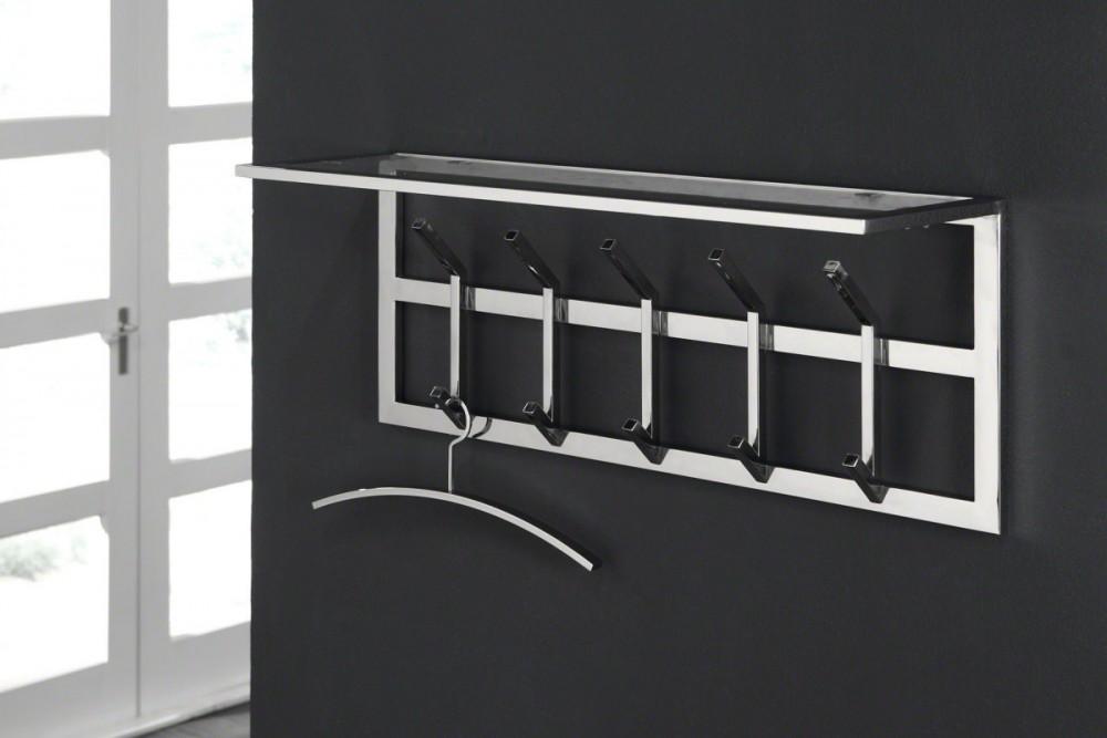 Wandgarderobe Verchromt Moderne Garderobe Mit 10 Haken Und Ablage