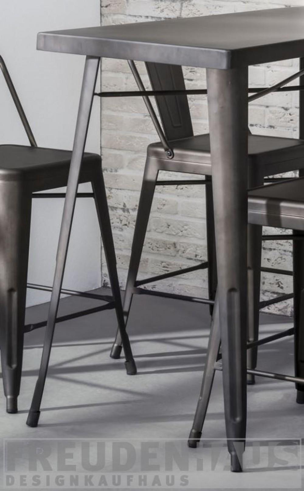 Bartisch Metall bartisch metall grau, tisch grau metall, höhe 92 cm
