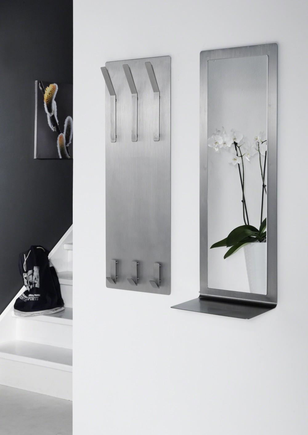 spiegel auf einem wandpaneel aus edelsthal moderner spiegel mit eine ablage ma e 100 x 36 cm. Black Bedroom Furniture Sets. Home Design Ideas