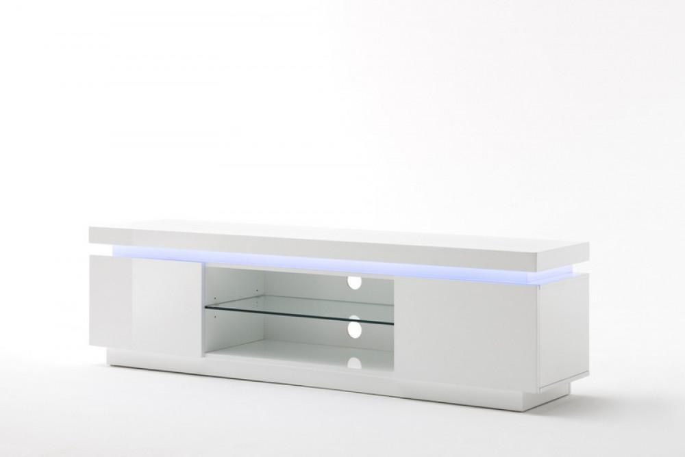 Lowboard Weiß Hochglanz lackiert, Moderner TV Schrank mit ...