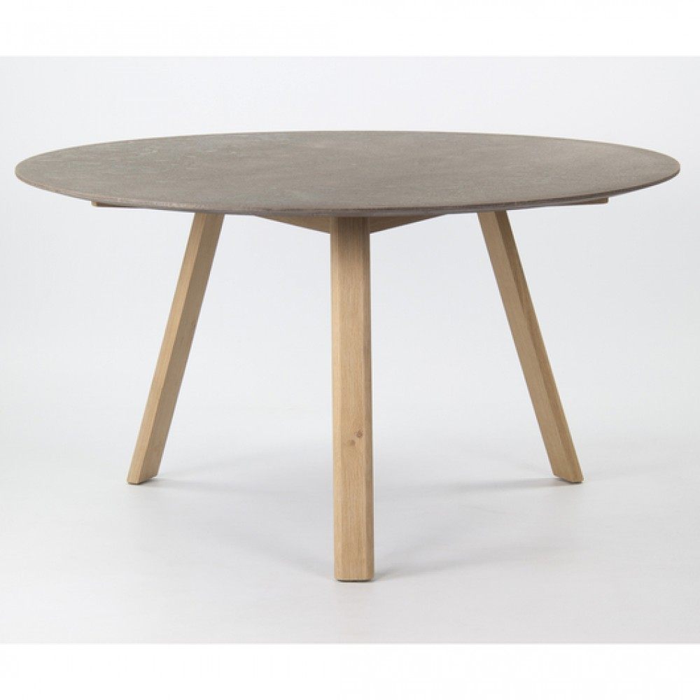 Tisch Rund Beton Optik Esstisch Rund Grau Durchmesser 140 Cm