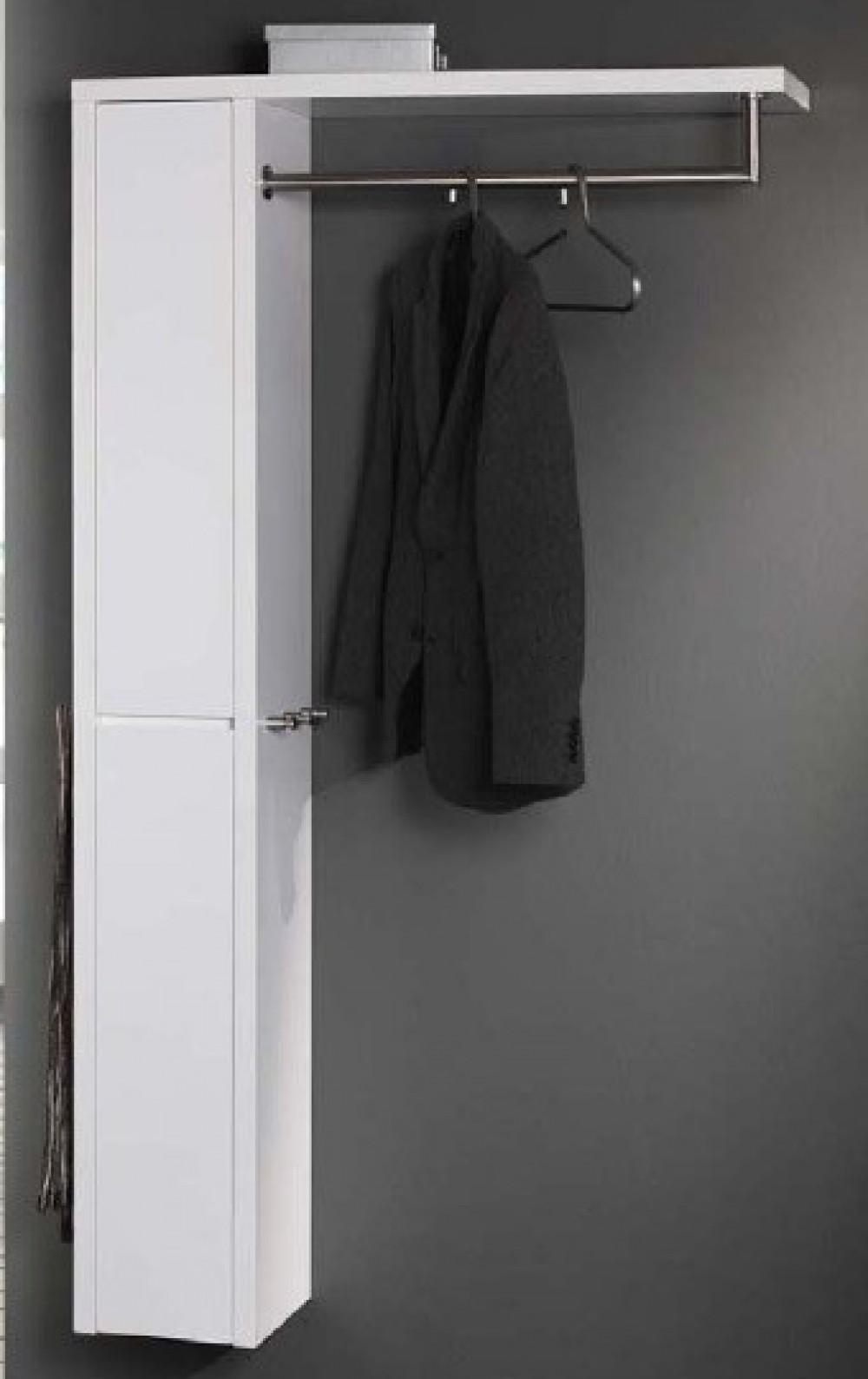 wandgarderobe mit ablage kleiderstange und wandschrank. Black Bedroom Furniture Sets. Home Design Ideas