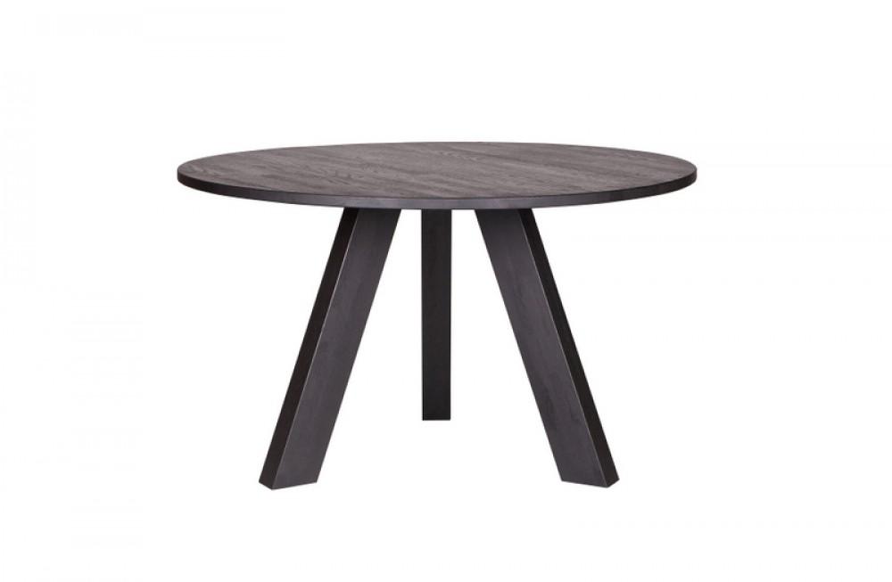 tisch rund anthrazit grau massivholz esstisch rund anthrazit eiche massiv durchmesser 129 cm. Black Bedroom Furniture Sets. Home Design Ideas