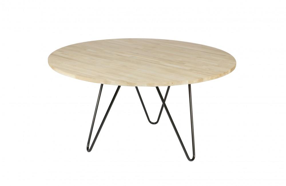 Tisch Rund Eiche Natur Industrie Esstisch Rund Massivholz