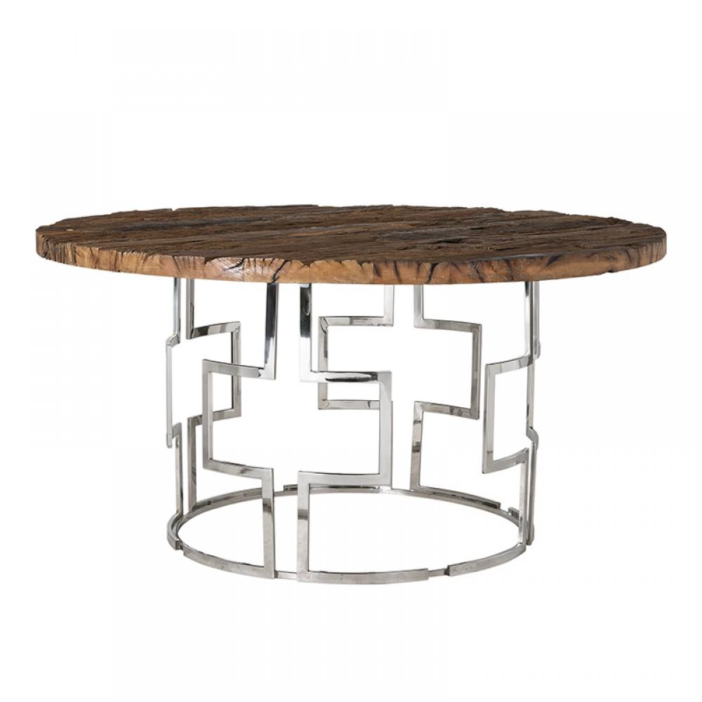 Metallfuß Tisch Rund.Runder Esstisch Holz Metall