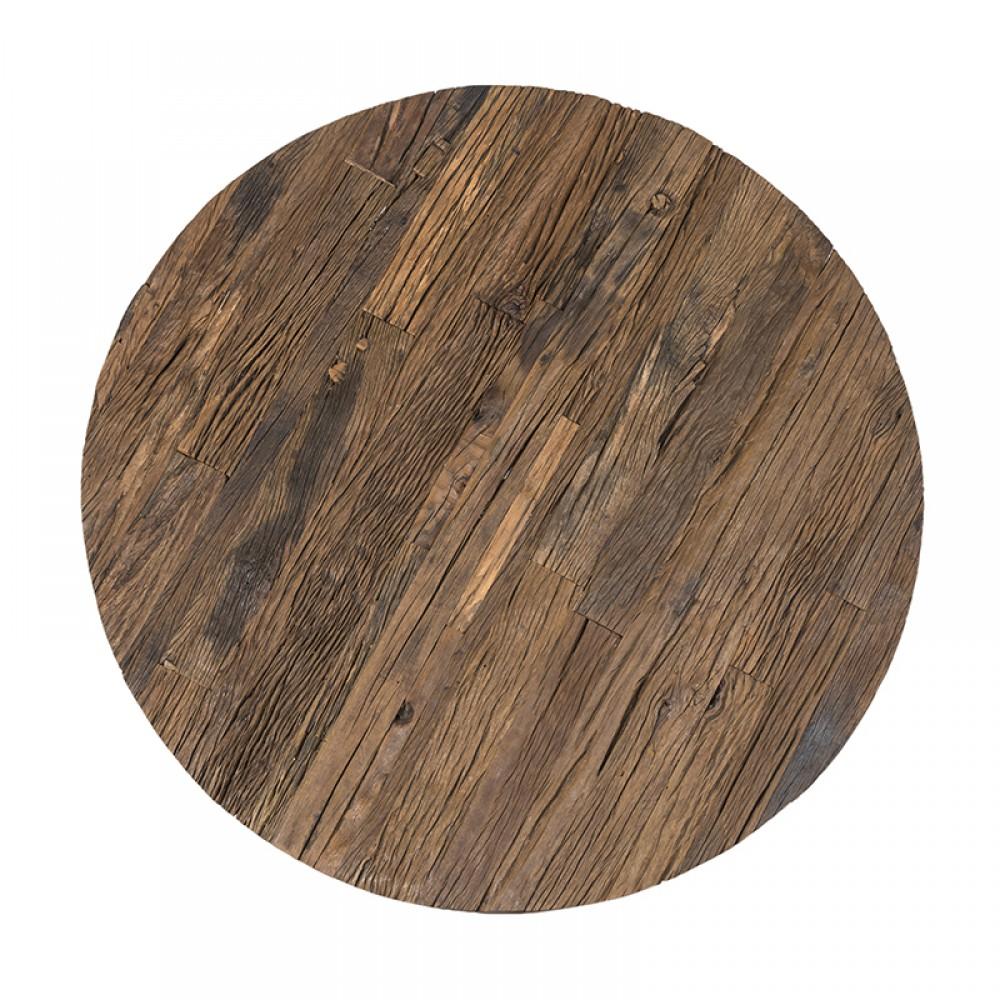 Couchtisch Rund Holz Metall Verchromt Runder Couchtisch Braun